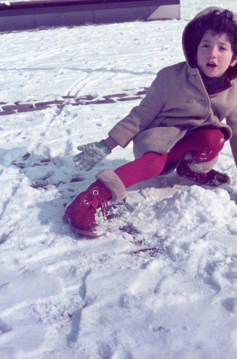 שרון בשלג 1969