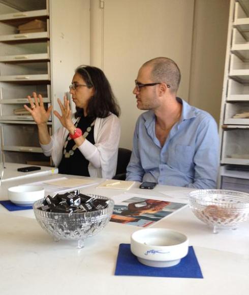 גלית גאון ויריב ברנבלום בפגישת הצגת הפרויקט