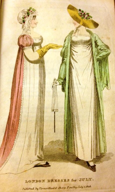 דף האופנה במגזין יולי, 1808