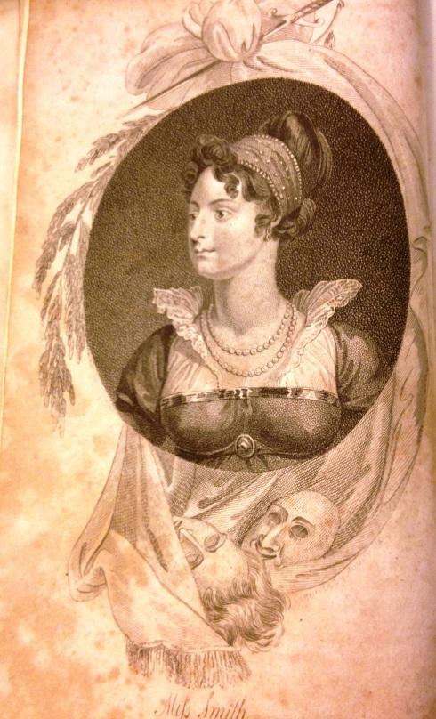 דיוקנה של גב' סמיט, שהיא שחקנית ידועה בתיאטרון