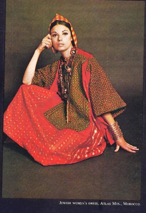 """דגם של אשה מהרי האטלס במרוקו ששימש מקור השראה לקולקציה של """"ג'רקולי"""""""