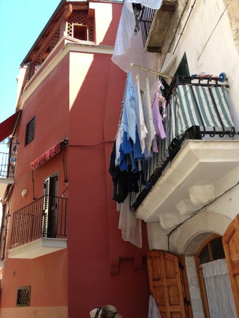 ברי- בית אדום עם כביסה צבעונית