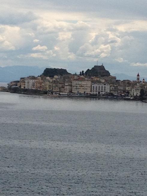 נוף דוברובניק שנשקף מהאוניה