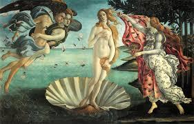 הולדת ונוס מאת בוטיצ'לי, בצבעים טבעיים
