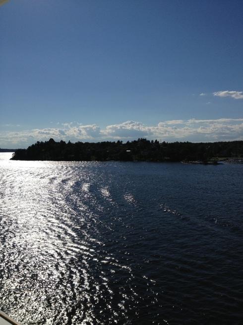 המים הכסופים לקראת השקיעה